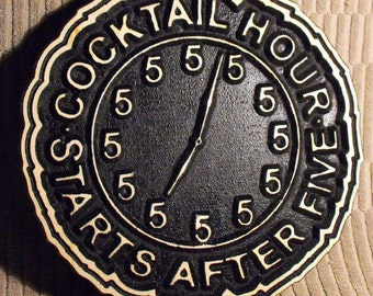 Man Cave  Clock Sign