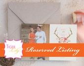 Reserved Listing for Envelope Printing for Blush Floral Antler Thank Yous for Amanda
