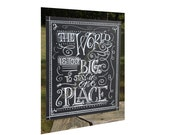 Chalkboard Art Poster- World is too big chalkboard - quote poster