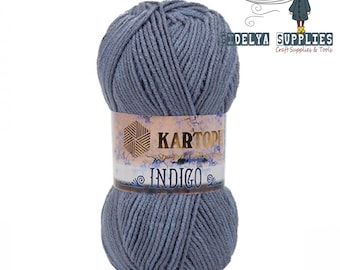 Wool Yarn,Acrylic Soft Yarn 100gr,Kartopu İndigo Yarn H683,Hand- Knitting Yarns,Crochet yarn,Wholesale