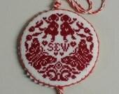 Girls and Butterflies Sew Pinkeep Pin Keep Pincushion Sewing Tools