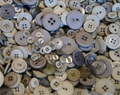 50  Grey Gray  Button Mix , Assorted Sizes, Crafting Jewelry Collect (1297)