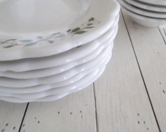 Buffalo China Dogwood Pattern Plates Vintage Ironstone Dishes Rustic Farmhouse Chic