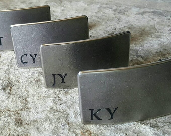 Personalized Groomsmen Gifts - Wedding Belt & Buckle SET Monogrammed Accessories Stainless Steel Keepsakes Hypoallergenic Jean Belt Buckle