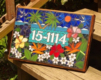 Personalized Mosaic Signs  /  Plaques - Name or Address - Wedding Gifts