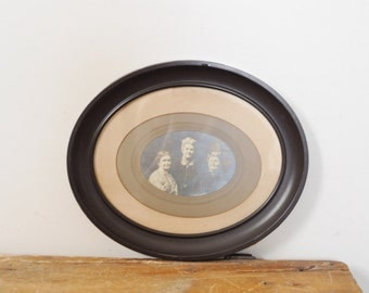 Antique Framed Victorian Women Photograph Spinster Sisters