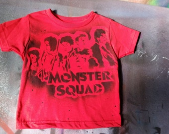 SALE Ready to Ship Monster Squad kids tee 80s tshirt 1980s movie youth toddler