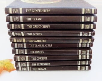 Vintage Time Life Old West Series Ten Volume Set with Bonus Reproductions - Time-Life Books Series The Old West Set