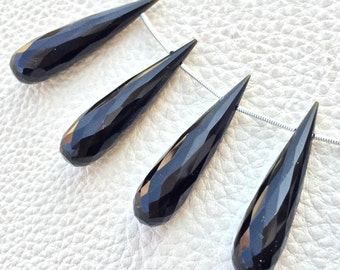 Brand New,2 Matched Pairs,Natural Black Spinal, 35mm Long Drops,Finest Item