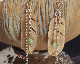 Birds of feather earrings