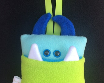 Tooth Fairy Pillow   Bright Green and Aqua Blue   Tooth Fairy Monster Pillow