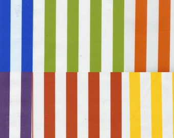 Colorful Stripes Oilcloth Yardage