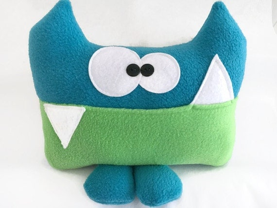 Large sized Sherman Blue and Green Tooth Fairy Pillow by Kooky Critters