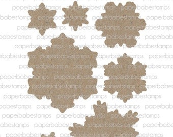 Peaceful Flurries Fibreboard Substrates Kit - Paperbabe Stamps - Coordinating MDF Shapes for mixed media and craft.