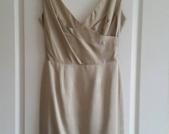 50s Lilli Diamond wiggle champagne dress vintage M