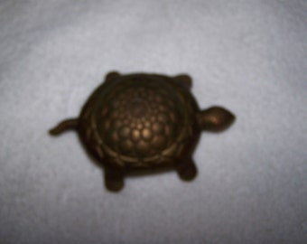 Precious Brass Turtle Trinket Box Made in Italy