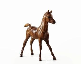 Vintage Breyer Horse, Woodgrain Arabian Foal, Breyer Family Arabian, Colt Figurine, 1960s Plastic Horse