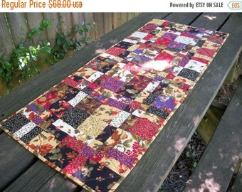 CIJ SALE Fall Table Runner Autumn Handmade Quilted Quiltsy Handmade FREE U.S. Shipping