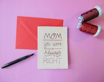 Funny Mother's Day Card English