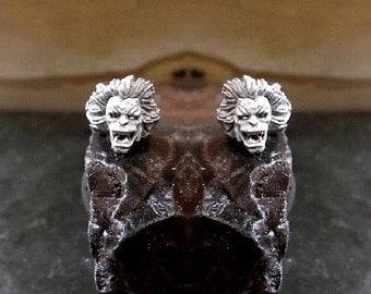 Demon Earrings Sterling Silver Free Domestic Shipping