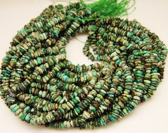 1strand - natural turquise chips sized 8mm