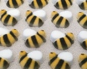 Bumble Bee Sugar Layons, Edible Bees, Cake Decorating Supplies, Cupcake Topper, Sugar Bee, Baby Shower, Wedding, Tea Party, Gender Reveal