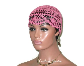 Pink Pineapple Cloche, Tropical Pink, Pineapple Lace, Pink Lace Cloche, Lace Beanie, Hand Crocheted, Lace Hat, Crocheted Lace, Lace Cap
