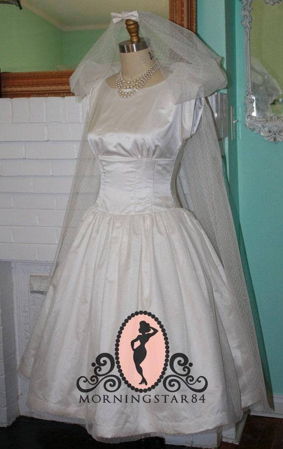 Audrey Hepburn Wedding Dress Funny Face Short By MorningstarPinup