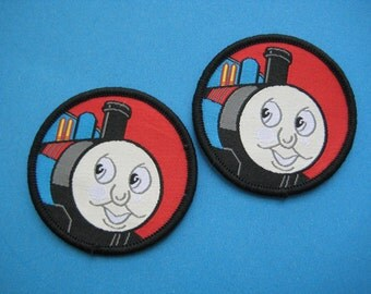 2 pcs Sew-on Patch Thomas the tank engine 2 inch