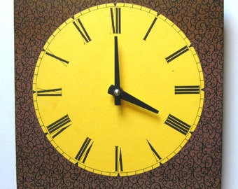 Wall clock.  Modern clock. Funky and fun clock.  Antique clock face made new.