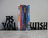As You Wish, Metal Bookends, Movies, Books, The Princess Bride, Organizer,