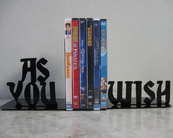 As You Wish, Metal Art Bookends, Movies, Books, The Princess Bride, Organizer,