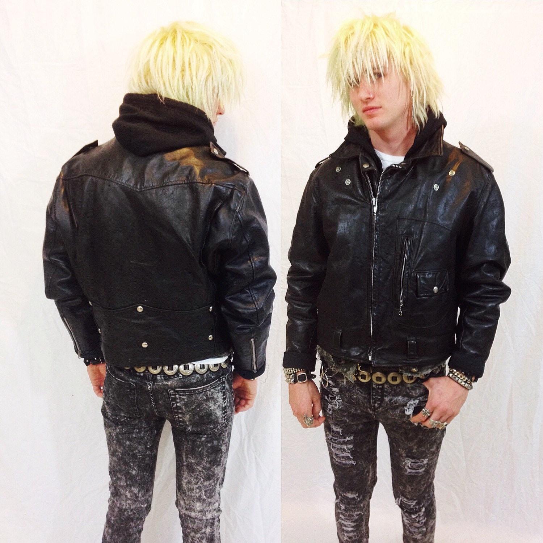 Leather jacket xl size - Vintage 50s D Pocket Oakbrook Biker Jacket Mens Size 44 Medium Large Womens Xl Motorcycle Sears