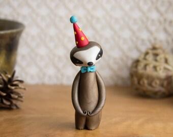 Sloth Figurine - Sloth Birthday Cake Topper by Bonjour Poupette
