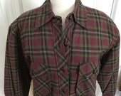 Vintage Men's Cotton Flannel Shirt Jacket w/ Quilted Lining New With Tags FS Sport XS