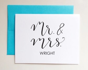 Mr and Mrs. Personalized Custom Stationery Stationary - Gift for bridal showers, engagement, wedding, thank you cards - Set of 10 cards