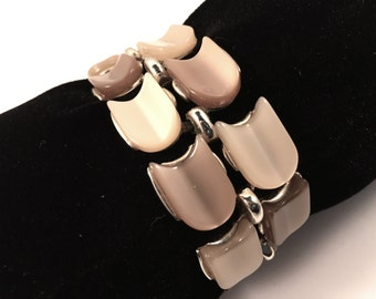 Lisner Bracelet, Vintage Jewelry, Lisner Jewelry, Vintage Bracelet, Moonglow Lucite Bracelet, Lisner Lucite, Mid Century, Brown and Beige