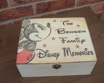 Vintage Disney Keepsake Memory Box personalized wooden box treat box personalized xmas family