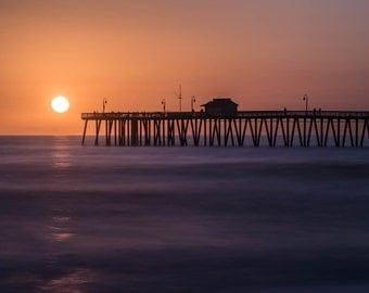 San Clemente Beach Pier Sunset, Beach Decor, Beach Artwork, Beach Sunset, Beach Photography, Art Print, Art Work, Fine Art Photography