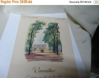 Independence Day Sale Vintage 1955 Dinner Menu Versailles, From France, collectable