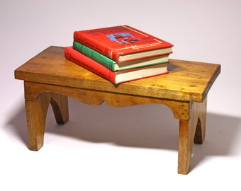 Vintage Hand Made Wooden Stool - circa 1950's