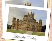 Downton Abbey Note Cards or Casual Invitations, Downton Abbey Pastel Drawing, Highclere Castle, Set of Ten Blank Cards, Grantham Crawley