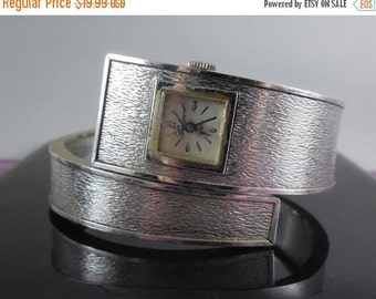 Sale 10% Off - Vintage Bangle Bracelet Watch - Thelier - As Found Watch Does Not Work