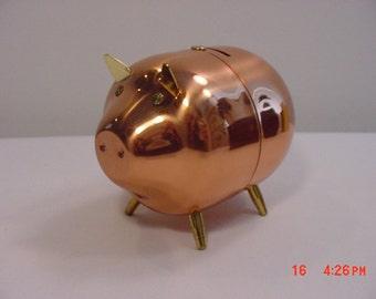 Vintage Coppercraft Guild Piggy Bank   16 - 50