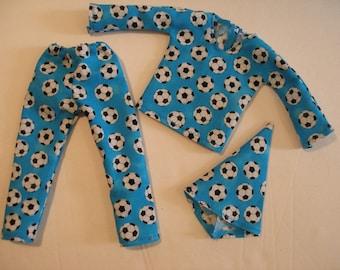 "Handmade clothes for Elf doll (12"") - PJ's for boy or girl elf Soccer Balls"