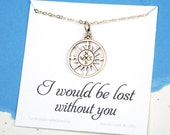 Sale Gold compass necklace with message card,Infinity compass necklace,Friendship necklace,Graduation gift,best friends,bridesmaid gifts