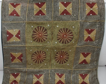 Vintage - Large - Hand Embroidered - Indian cushion cover - Boheimian