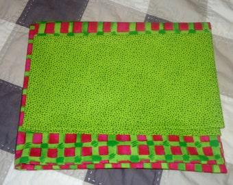 Pillowcases, queen size, standard size, pillowcases bright pillow cases, green and pink