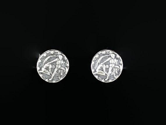 Sterling Silver Zodiac Earrings Gemini