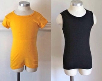 vintage lot of 2 child's T-shirts - BUMBLE BEE yellow & black tees /9-10yr